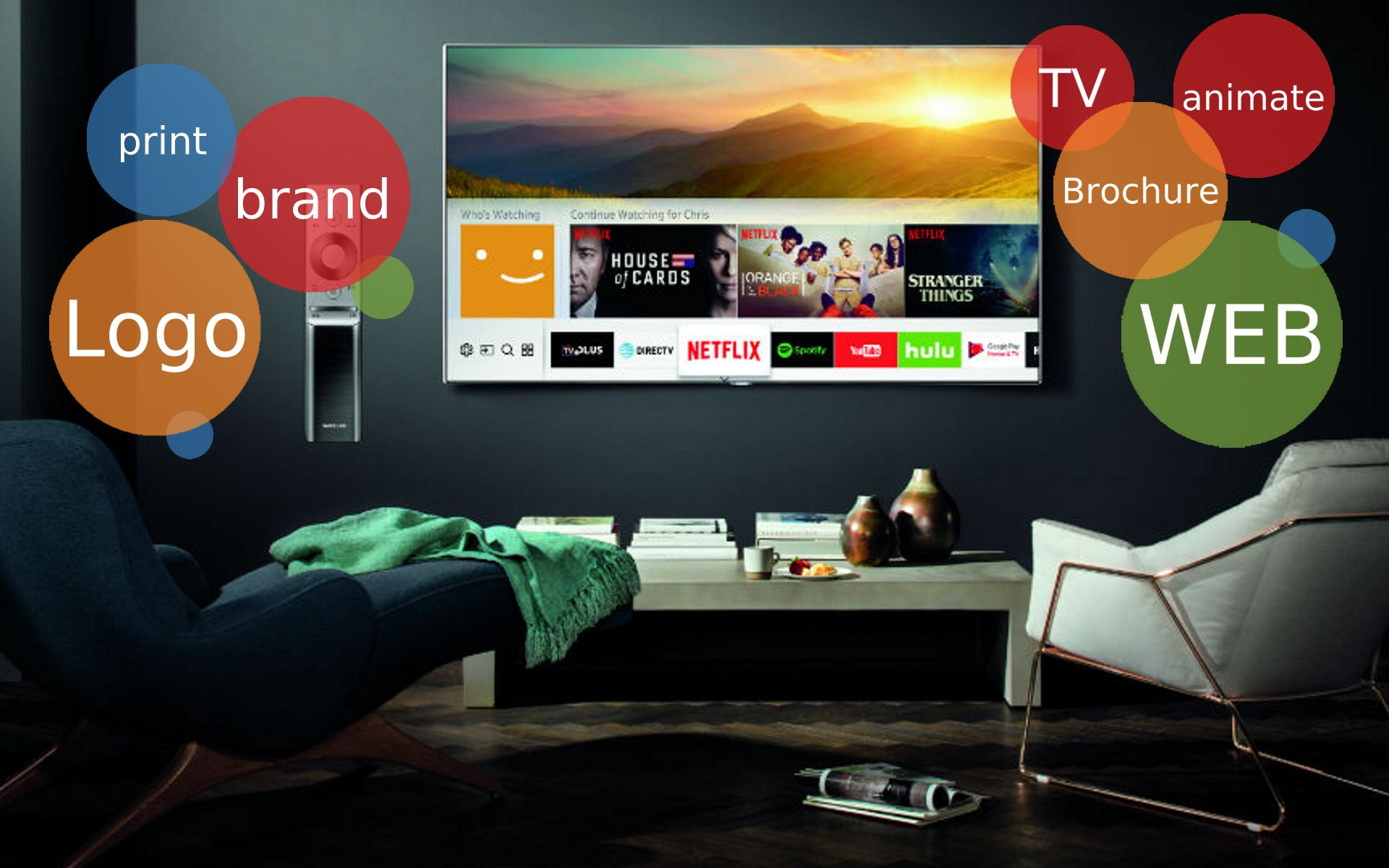 TV Pop-up Banner Design